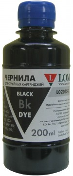 Чернила LOMOND LE08-002Bk Black,200мл, код 0205670