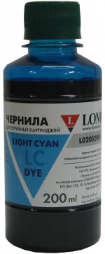 Чернила LOMOND LE08-002LC Light Сyan, 200мл, код 0205661