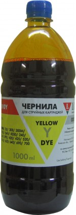 Чернила LOMOND LE08-010Y NEW Yellow, 1000мл, код 0205659 NEW