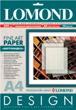 Бумага LOMOND ШОТЛАНДКА, 200г/м гл. , А4 10 листов, Код 0922041