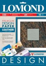 Бумага Lomond Premium глянцевая Кожа, 230 г/м, А4/10 листов код 0918141