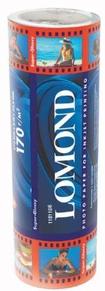 Бумага Lomond, 170 г/м, супергл., 329ммх8м., рулон код 1101106