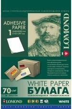 Универсальная самоклеящаяся бумага LOMOND, неделенная, А4, 50л. Код 2100005