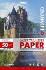 Термотрасфер для лазерных принтеров Lomond  для светлых тканей, А3, 50 листов. Код 0807320