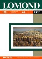 Бумага Lomond 190 г/м, Матт / матт двусторонняя,А4 25л. Код 0102036