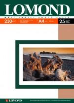 Бумага Lomond 230 г/м, матт, А4 25л. Код 0102050