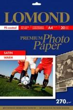 Бумага Lomond 270 г/м, сатин, А4, 20л. Код 1106200