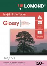 Бумага Lomond 150 г/м, глянец, А4 50л. Код 0102018