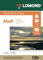 Бумага Lomond 120 г/м, матт, А4 100л. Код 0102003