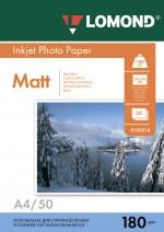 Бумага Lomond 180 г/м, Матт ,А4 50л. Код 0102014