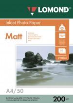 Бумага Lomond 200 г/м, Матт/матт. ,А4 50л. Код 0102033