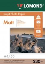 Бумага Lomond 230 г/м, Матт ,А4 50л. Код 0102016
