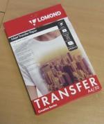 Термотрасфер Lomond для струйных принтеров для светлых тканей, А4, 50л. Код 0808415