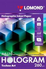 Бумага Lomond Holographic Inkjet Paper Cube (Куб) 260 г/м, А4/10 л. код 0902041