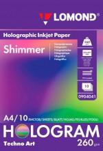 Бумага Lomond Holographic Inkjet Paper Shimmer (Мерцание) 260 г/м, А4/10 л. код 0904041